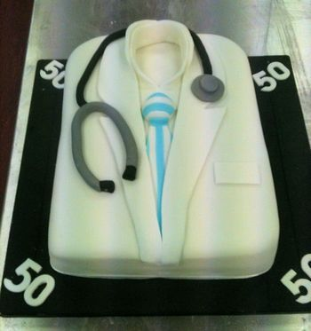 Groovy Birthday Cakes Doctor S 50Th Birthday Cake With Images Doctor Funny Birthday Cards Online Chimdamsfinfo