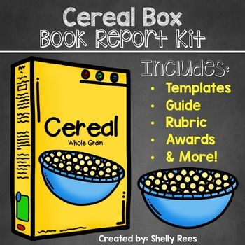 Cereal Box Book Report Kit  Traditional Books Students And Teacher