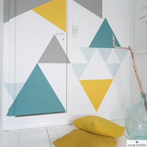 Via Casa de Valentina www.casadevalenti... #decor #design #details #idea #simple #geometric #print #casadevalentina