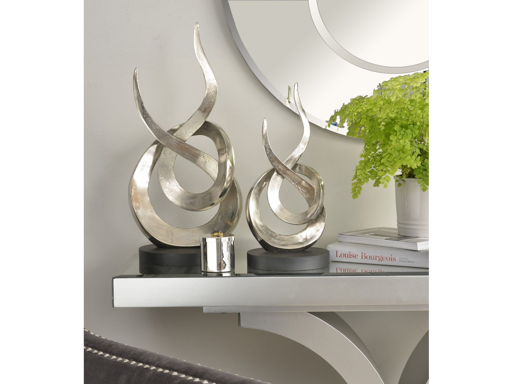 TheLibraCompany The Libra Company ENTWINED FLAME SILVER ...