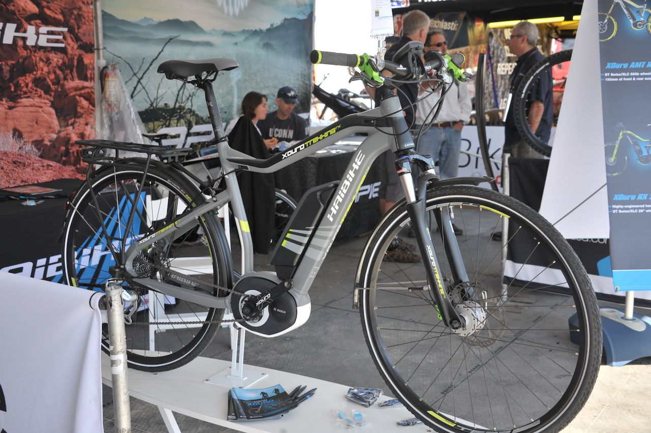 The Haibike Trekking Rx With The Bosch Mid Drive E Bike System Was Recently Spotted At The Sea Otter Classic Full Sea Otter Report Coming Ebike Bike Bike News