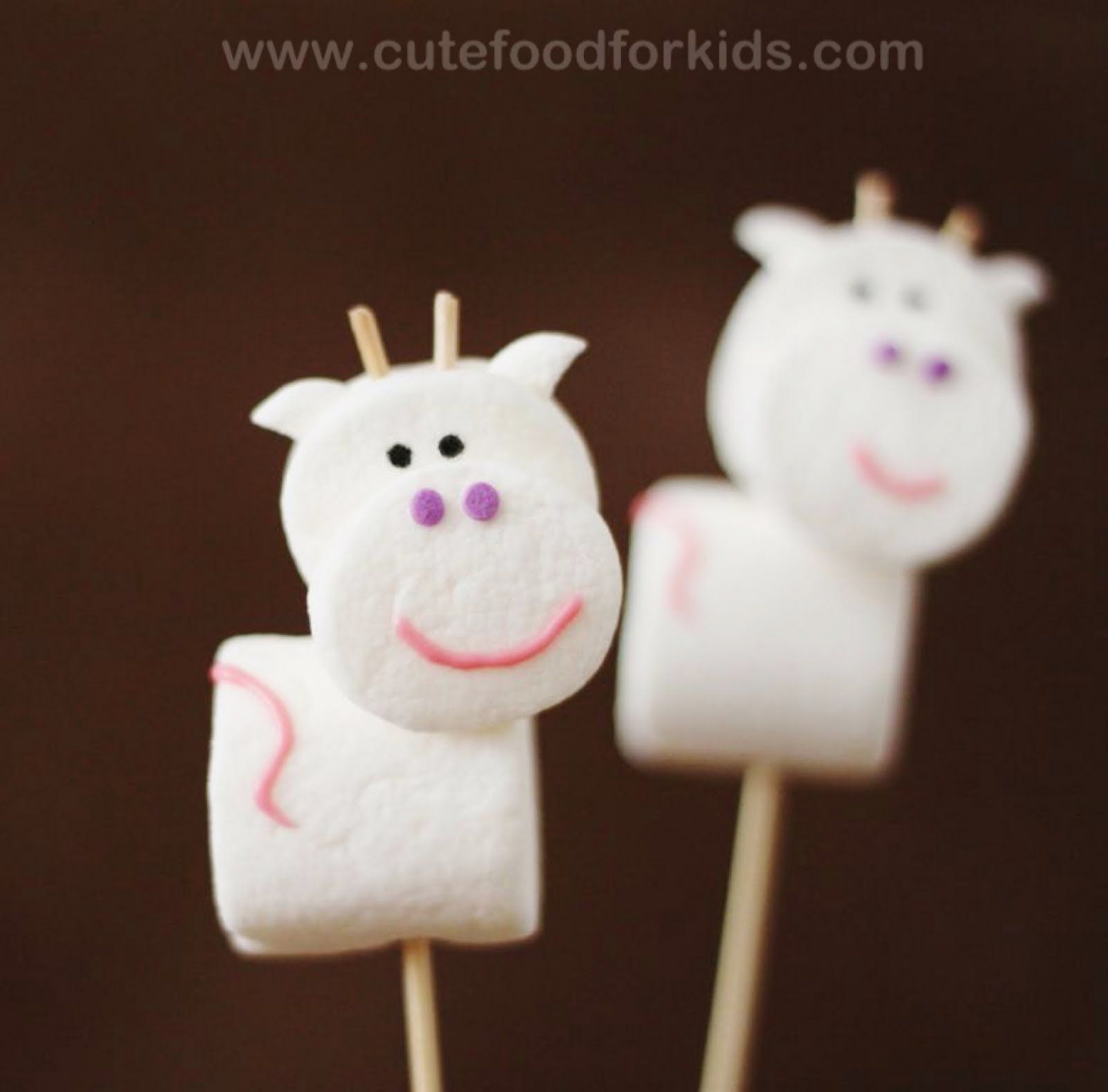 Cow pops for Channing's birthday except I didn't put toothpicks in it because of the kids eating them