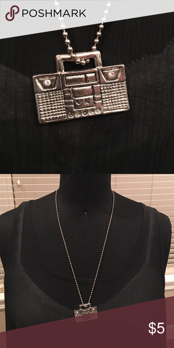 Boom Box necklace Boom Box necklace with rhinestones Jewelry Necklaces