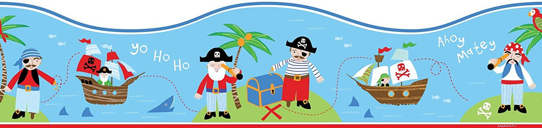 Piratenzimmer Selbstklebende Bordüre für das Piraten