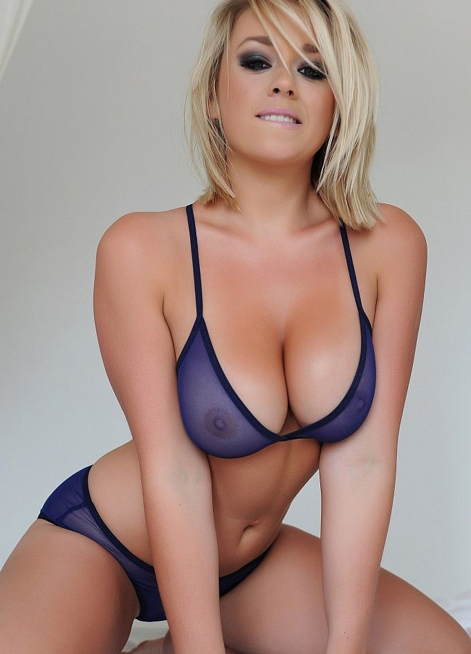 blue Hot lingerie blonde