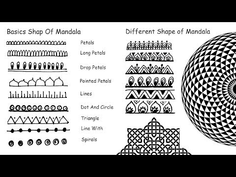 How To Draw Mandala Basic Shapes For Beginner Step By Step Part 1 4 How To Draw Mandala Basic Shap Gluckwunschkarte Geburtstag Gluckwunschkarte Zeichnung