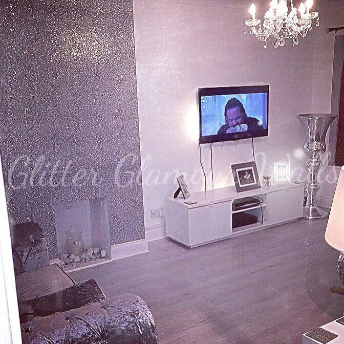 silver glamour range glitter wallcovering glitter wallcovering in rh pinterest co uk
