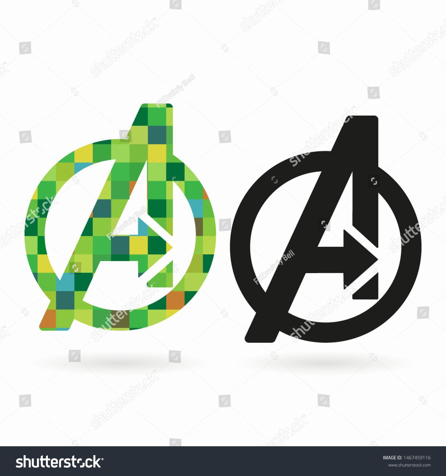 Avengers logo on the on white background. Avengers endgame
