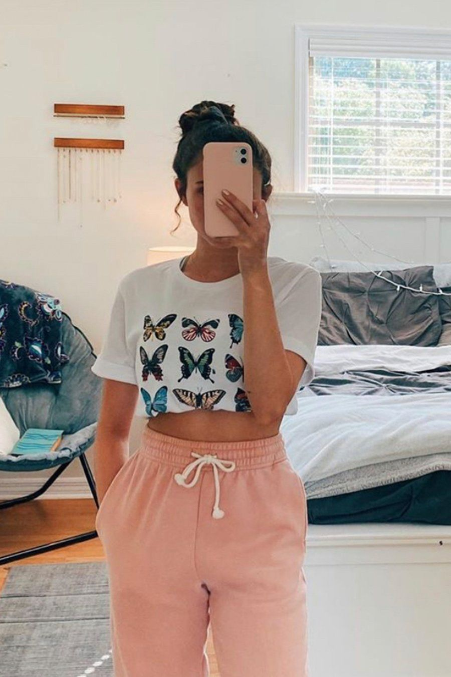 Butterfly Graphic Tee White -   18 style Summer cool ideas