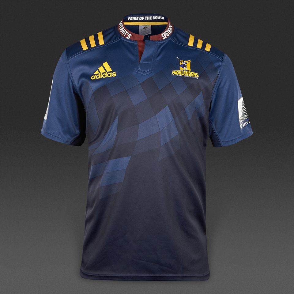 fda42f55b20 adidas Highlanders 2017 Home Shirt - Mineral Blue/Collegiate Navy ...