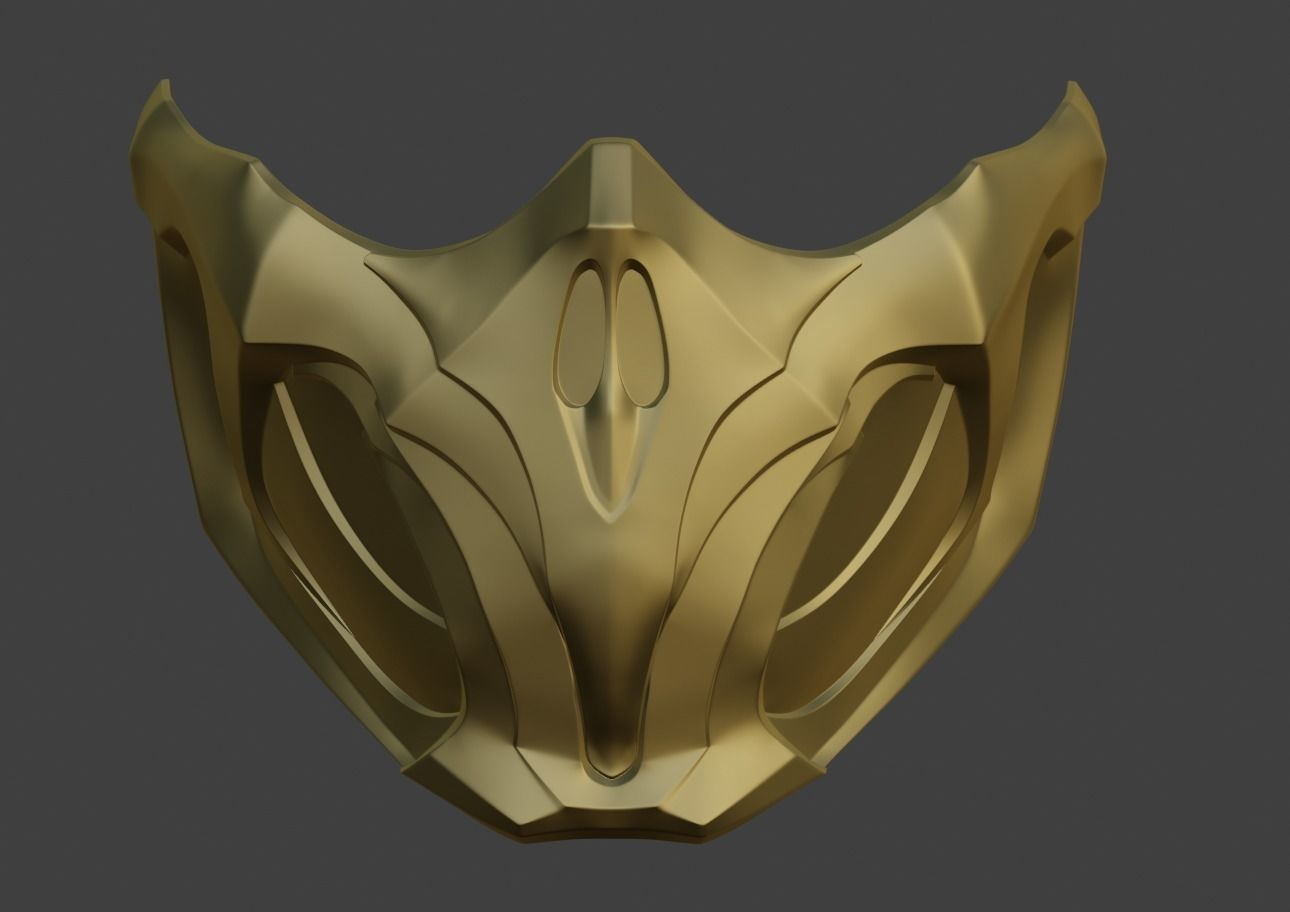 Scorpion Mask For Face From Mortal Kombat 11 Mk 3d Print Model Mortal Kombat 3d Printed Mask Mask