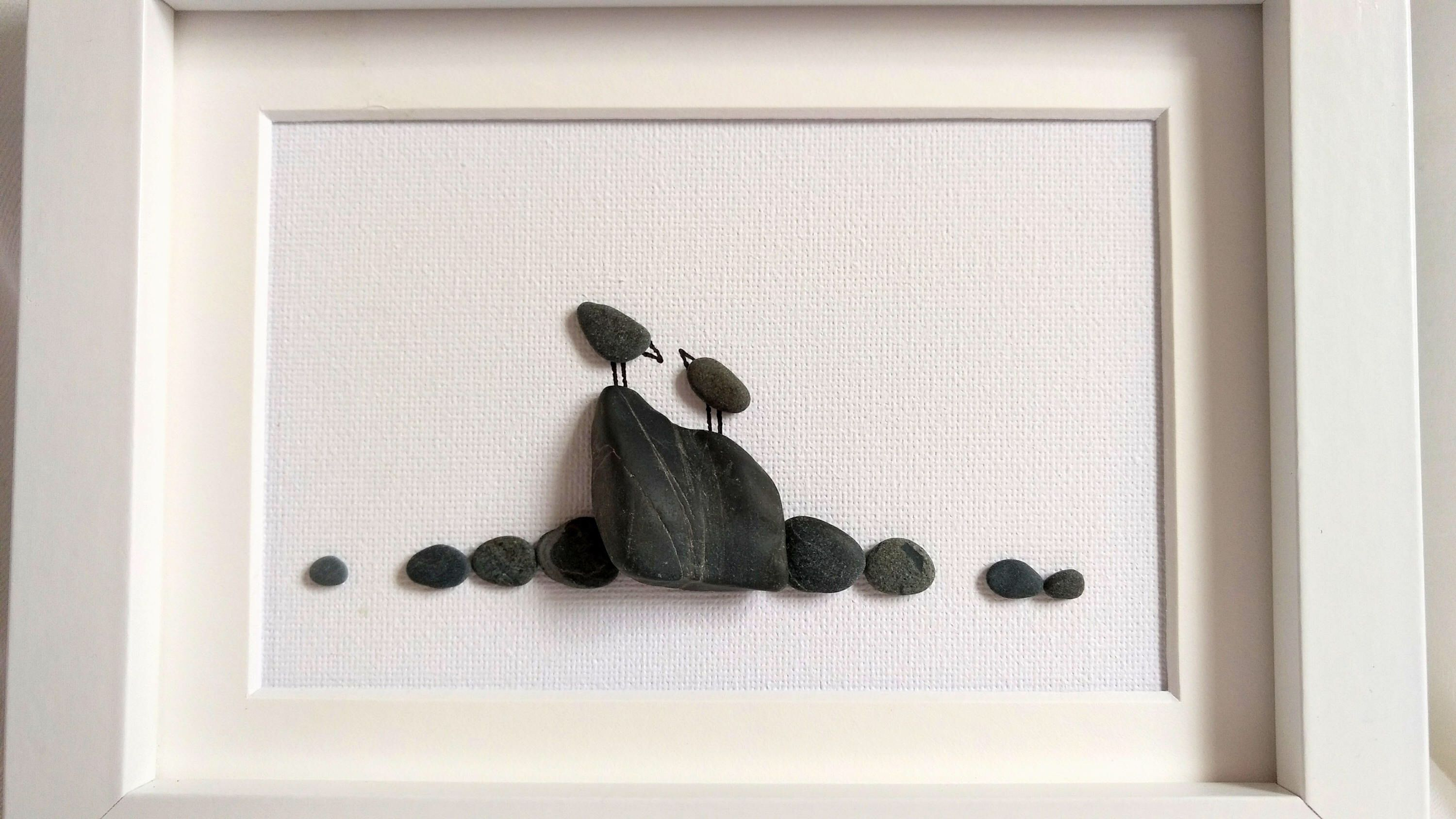 Unframed pebble art birthday present anniversary gift baby unframed pebble art birthday present anniversary gift baby shower nursery decor jeuxipadfo Image collections