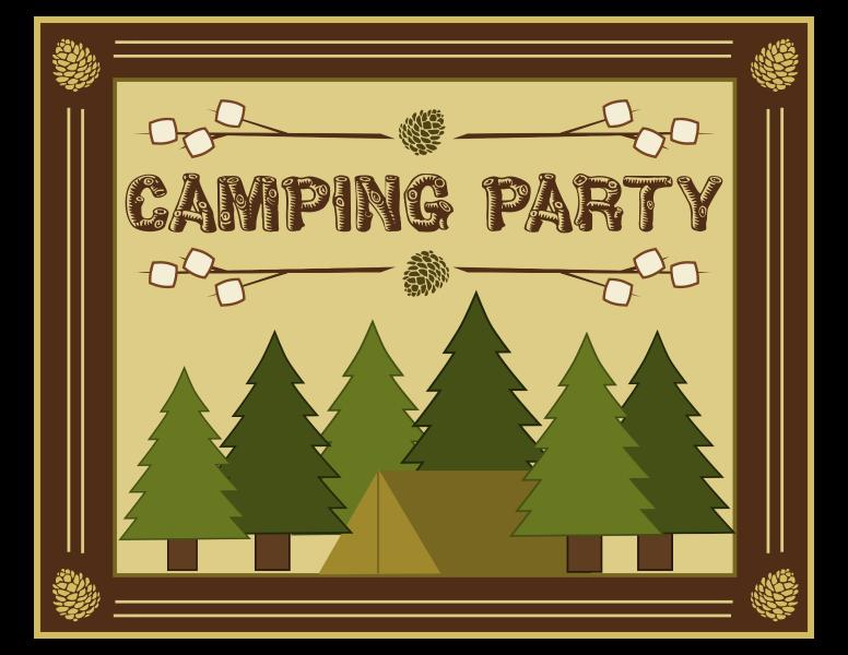 free camping birthday party invitation templates koni polycode co
