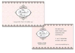 Make Up Artist and Hair studio Business Card Design | La boudoir ...