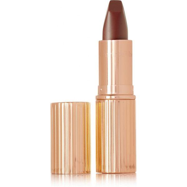 Charlotte Tilbury Matte Revolution Lipstick - Birkin Brown ($33) ❤ liked on Polyvore featuring beauty products, makeup, lip makeup, lipstick, beauty, lipsticks and moisturizing lipstick