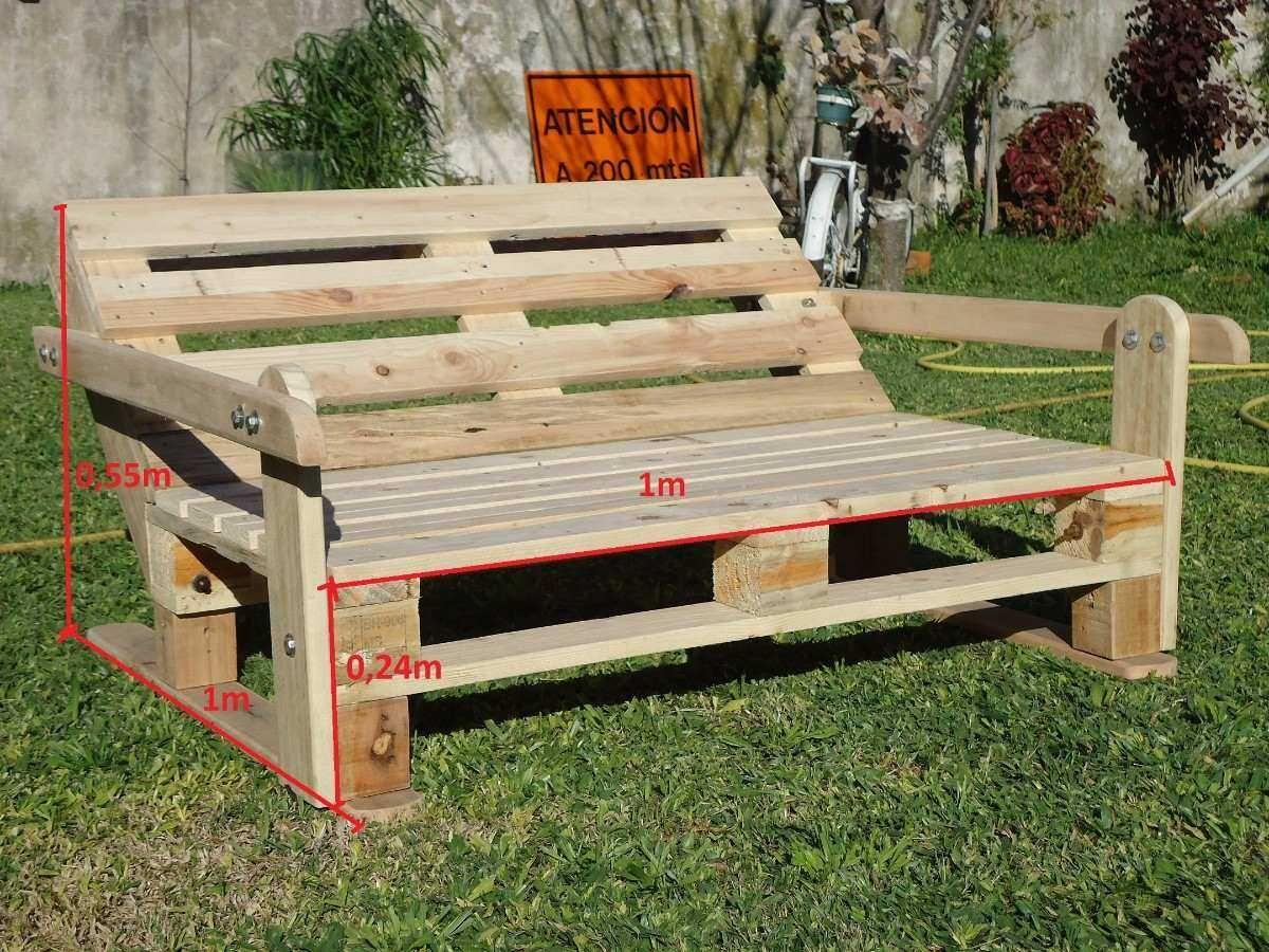 Sillón Reclinado De Madera Hecho Con Pallets Recicladas Recycle Couch Pallets Sofá De Paletas De Madera Sillones Con Palets Paletas De Madera