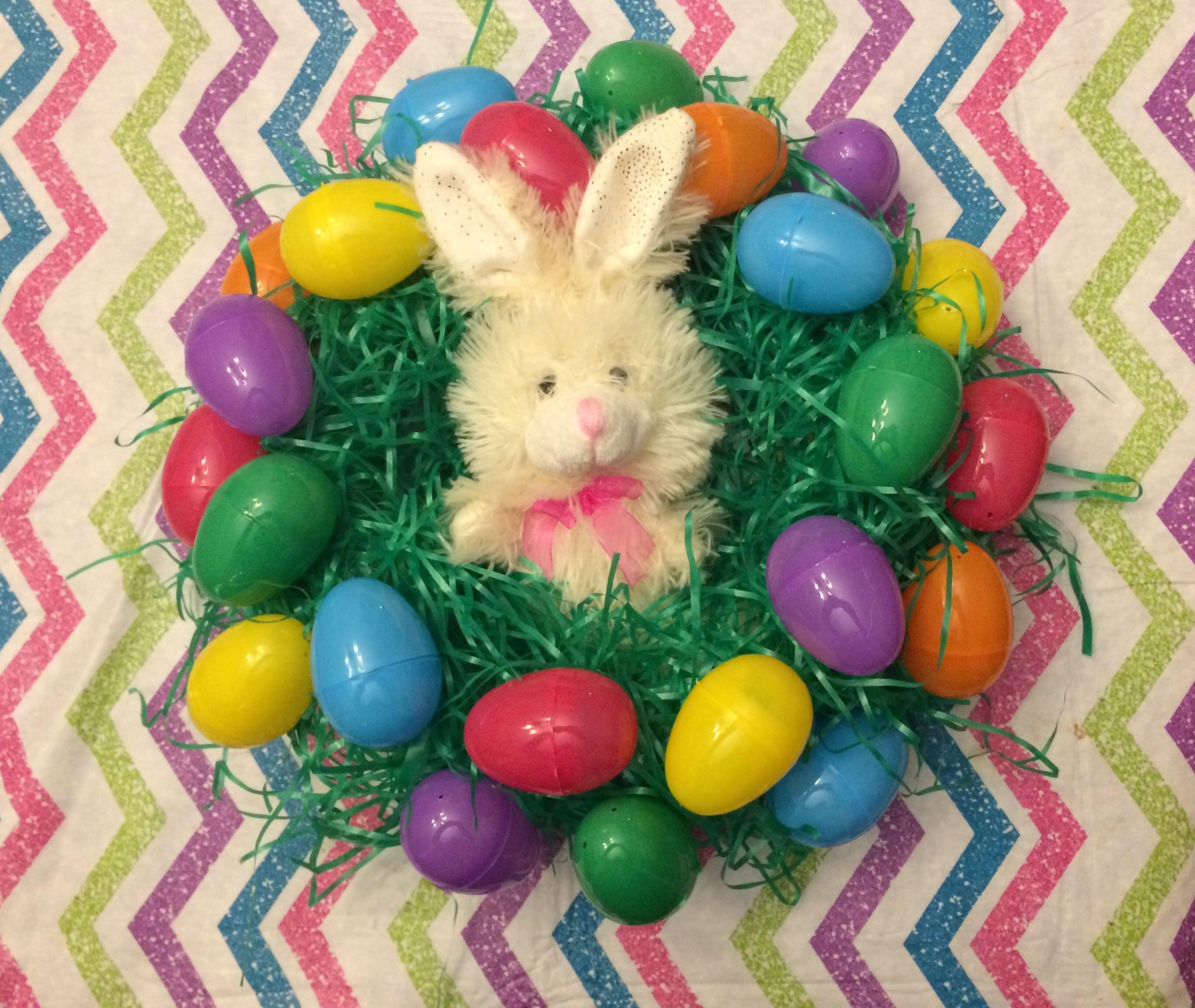 5 Easter Wreath Dollar Tree For 1 Styrofoam Ring Bag Of Grass Filler