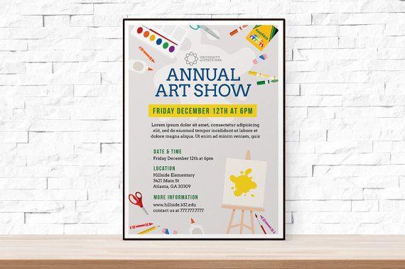 diy printable school art show flyer template word flyer templates