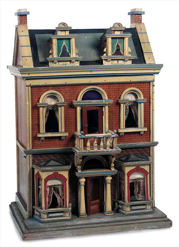 German Wooden And Lithographed Dollhouse Circa 1890 Dollhouses