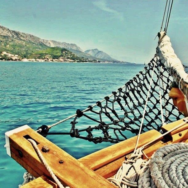 Chill out time on the bow #sailcroatia #croatia #sailing