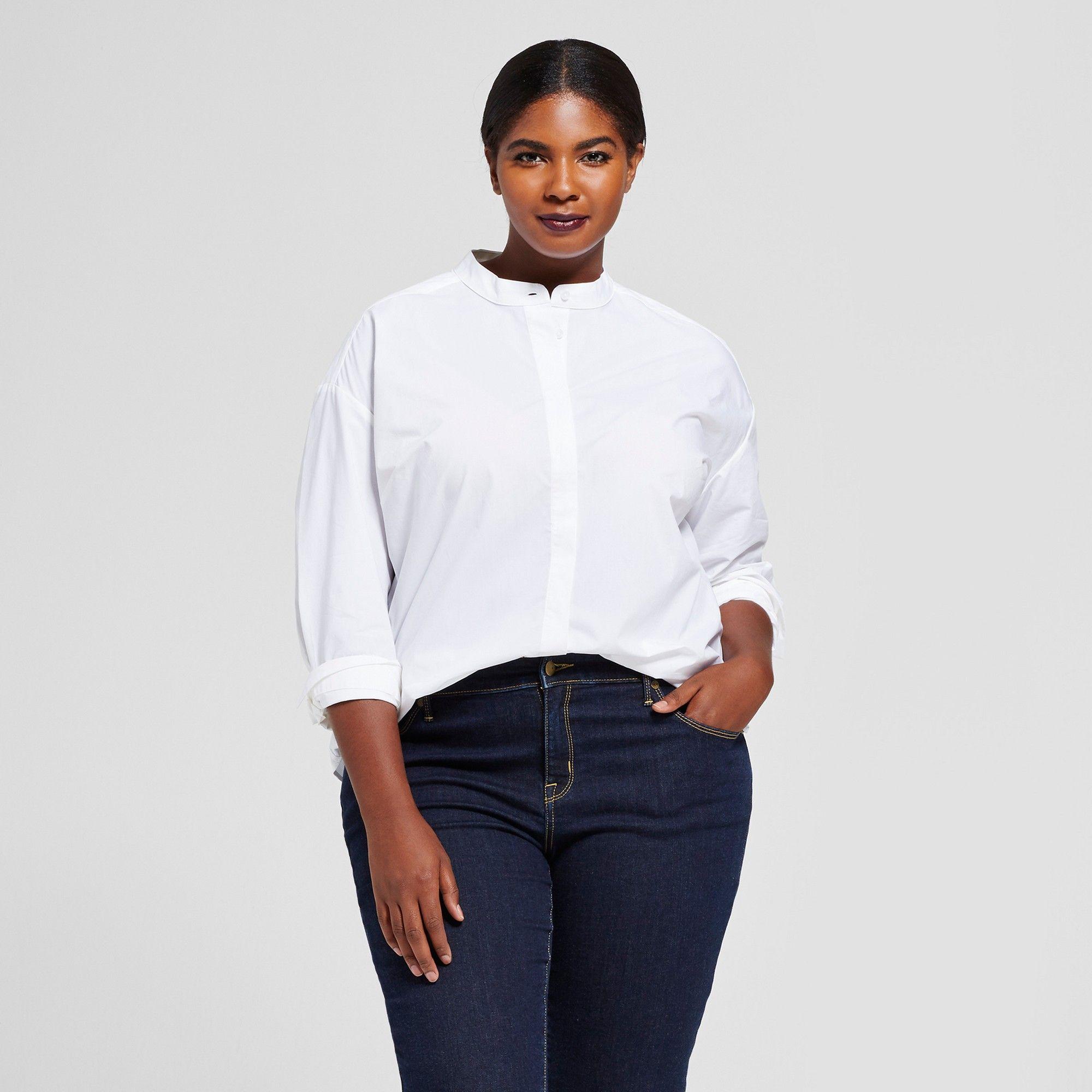 c0252f77c0e7e Mandarin Collar Shirt Plus Size