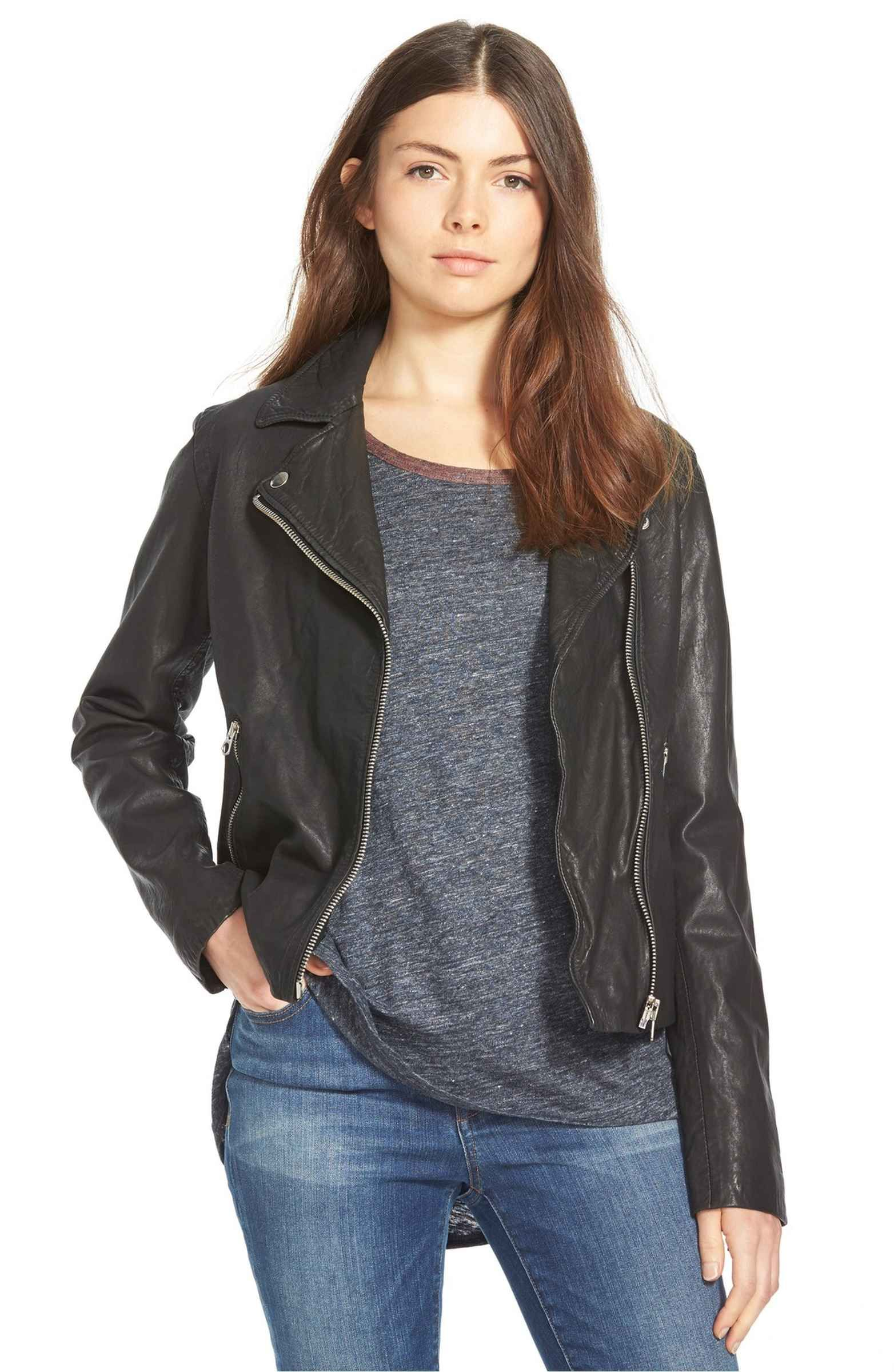 Madewell Washed Leather Moto Jacket Nordstrom Washed Leather Jacket Leather Jackets Women Washed Leather [ 2400 x 1564 Pixel ]