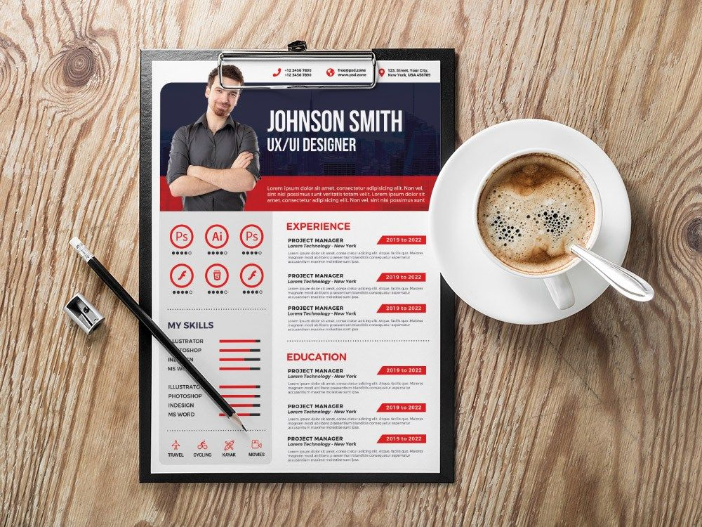 free modern resume template with for creative job  dengan