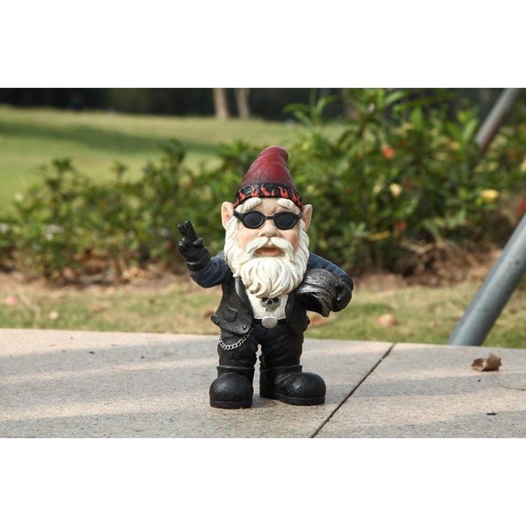 36 00 Hi Line Gift Ltd Gnome Biker W Sunglasses Helmet Gnomad Antlerdecor Halloween Halloweenmakeup Halloweenparty Halloweende Biker Gnomes Gnomes Biker