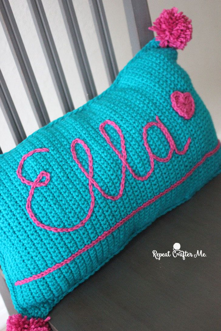 Surface Slip Stitch Crochet Pillow #slipstitch