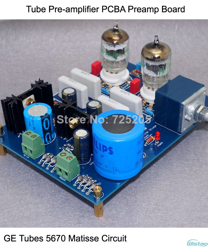 Tube Pre-amplifier PCBA Preamp Board Audio G E Tubes 5670 Matisse
