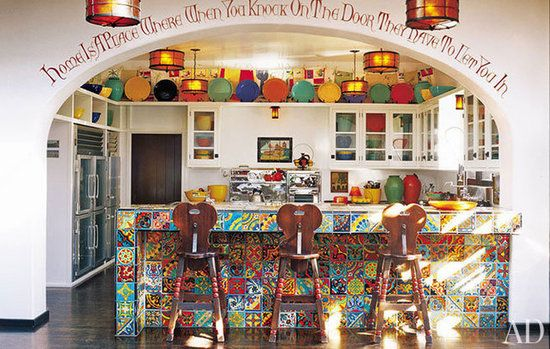 Love this Diane Keaton kitchen. WANT those stools!!   Kitchen Love ...