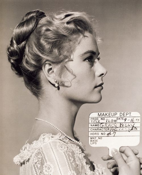 Grace Kelly makeup test for 'The Swan', 1956.