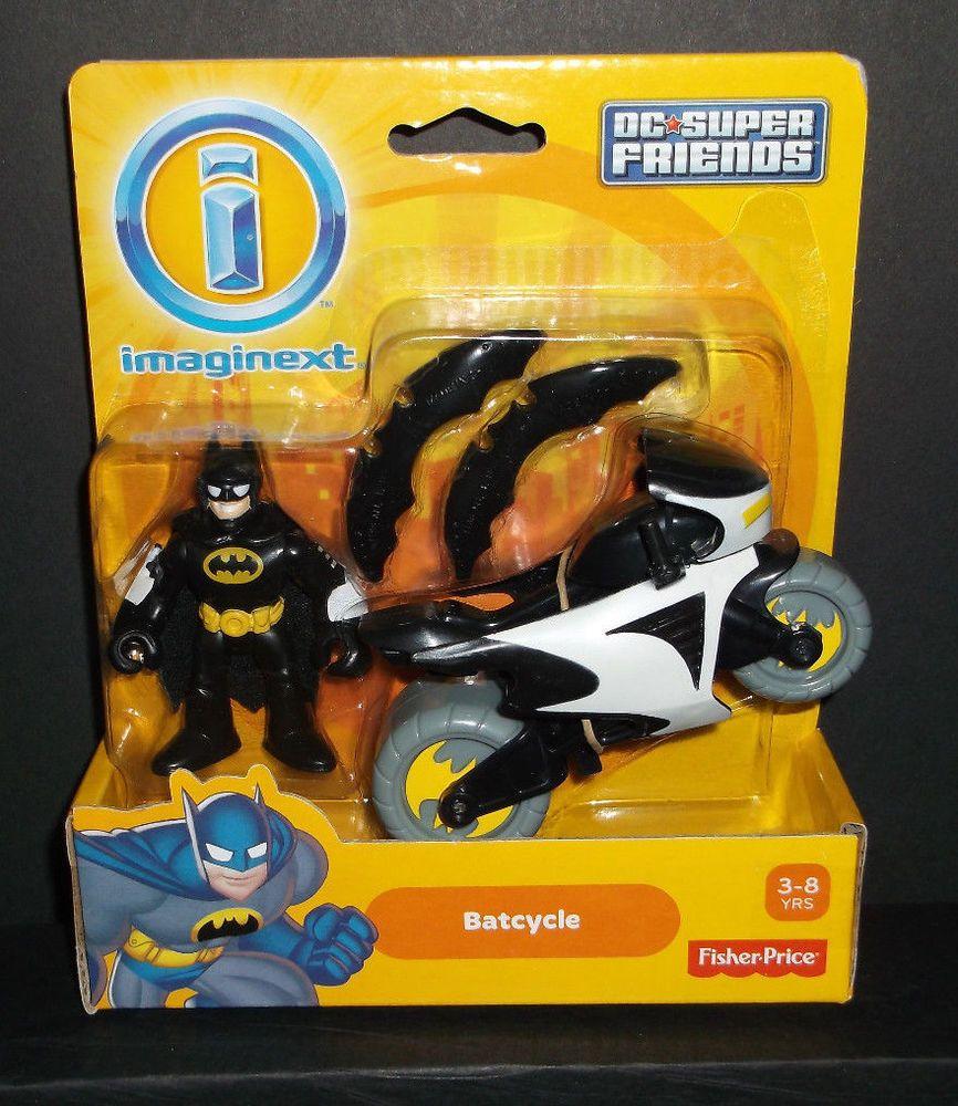 Imaginext Dc Super Friends Batman Batcycle New Mip Batman Figures Batman Books For Boys