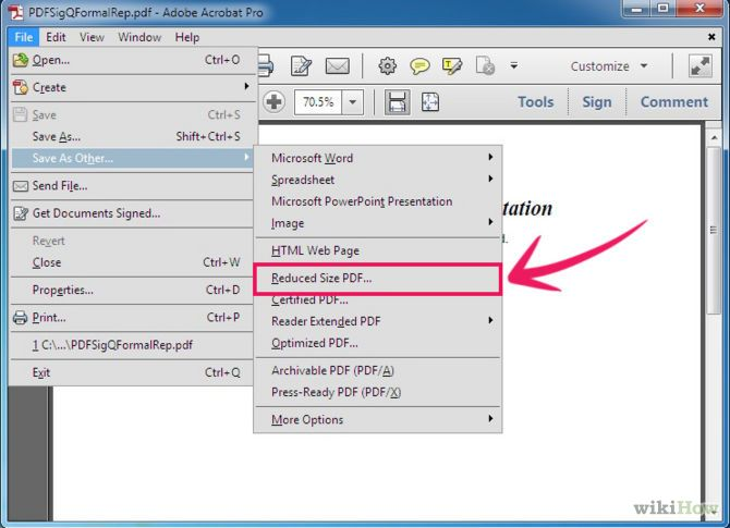 Reduce pdf file size file size filing and adobe 8 ways to reduce a pdf file size yay ccuart Images