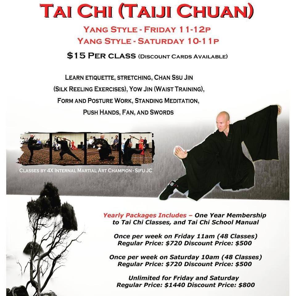 Take a Tai Chi class today!! Tai Chi has empowered my body