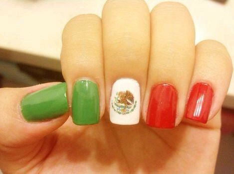 Nails with mexican flag pinteres nails with mexican flag more prinsesfo Gallery