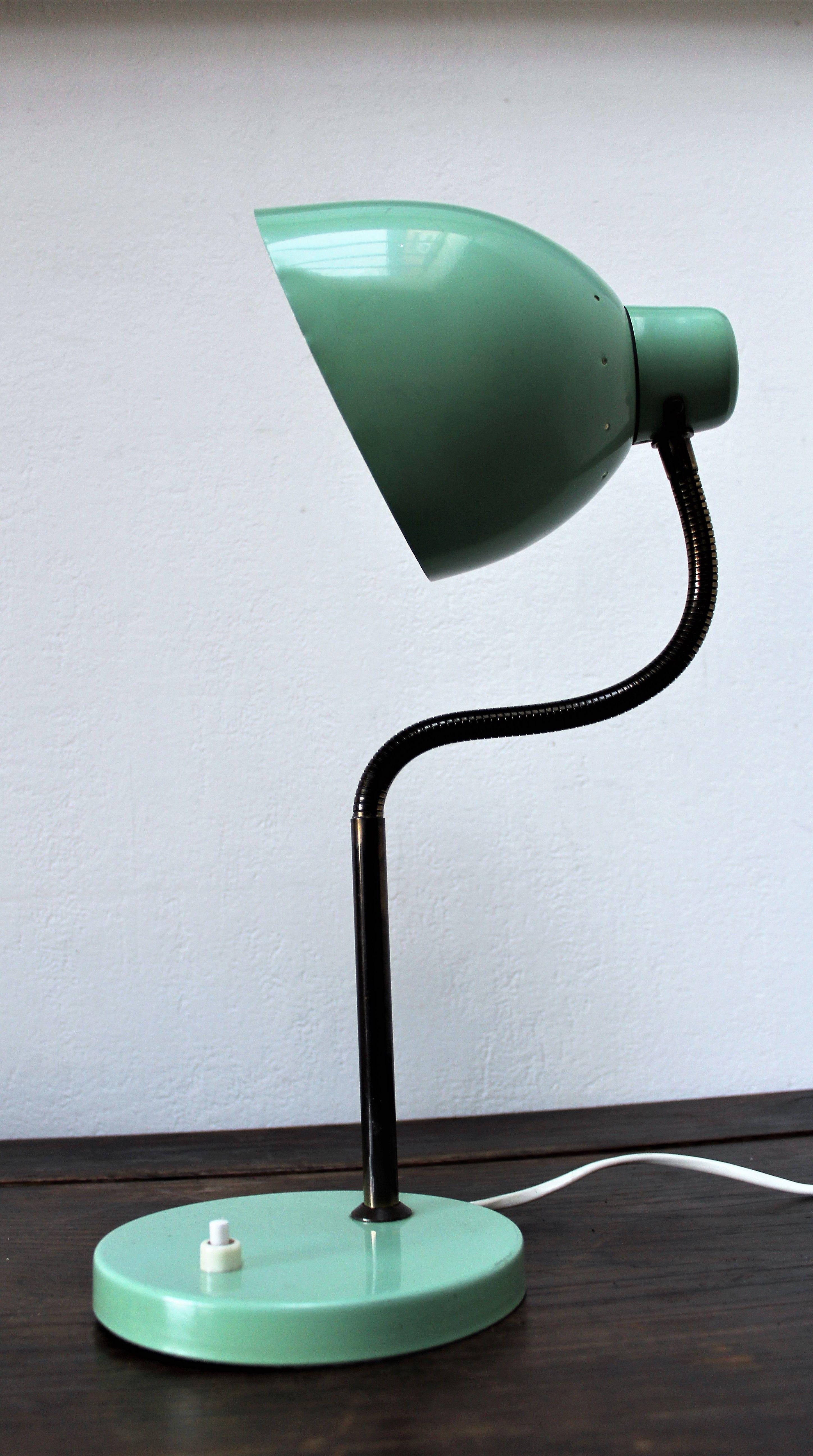 Retro Desk Lamp Table Lamp In Mint Green Industrial Metal Etsy Retro Desk Lamp Retro Lighting Table Lamp