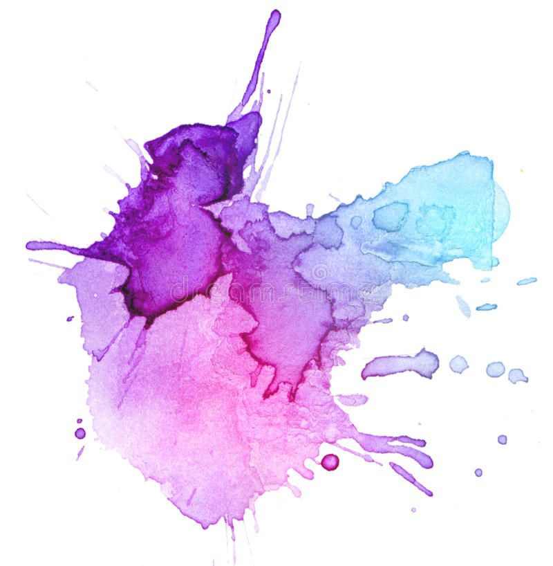 Watercolor Blot Background Raster Illustration Spon Blot