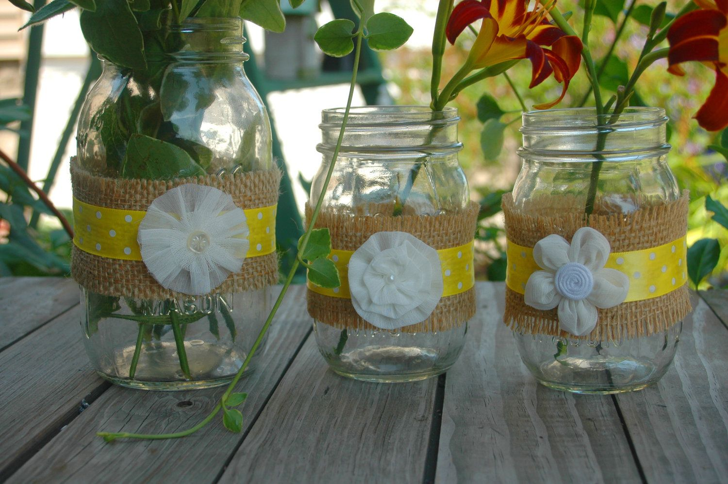 Decorating mason jars with burlap off mason jars wrapped