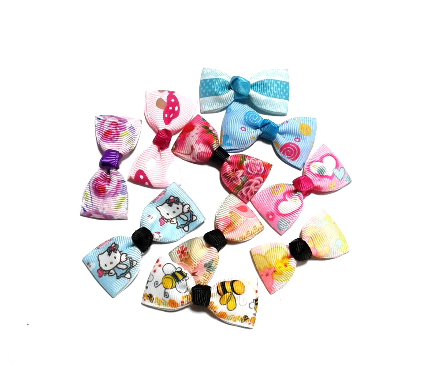 Hair Clip Clearance Sale Handmade Korean Style 10pcs Assorted Cartoon Hair Bow Clip Cartoon Hair Bow Hair Clips Hair Bows