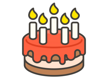 Birthday Cake With Candle Emoji Icon