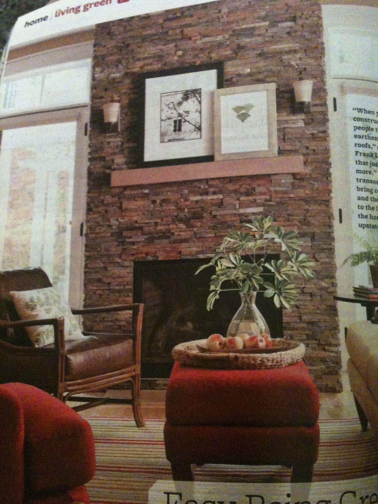 Faux stone fireplace finish | Fireplace Designs ...