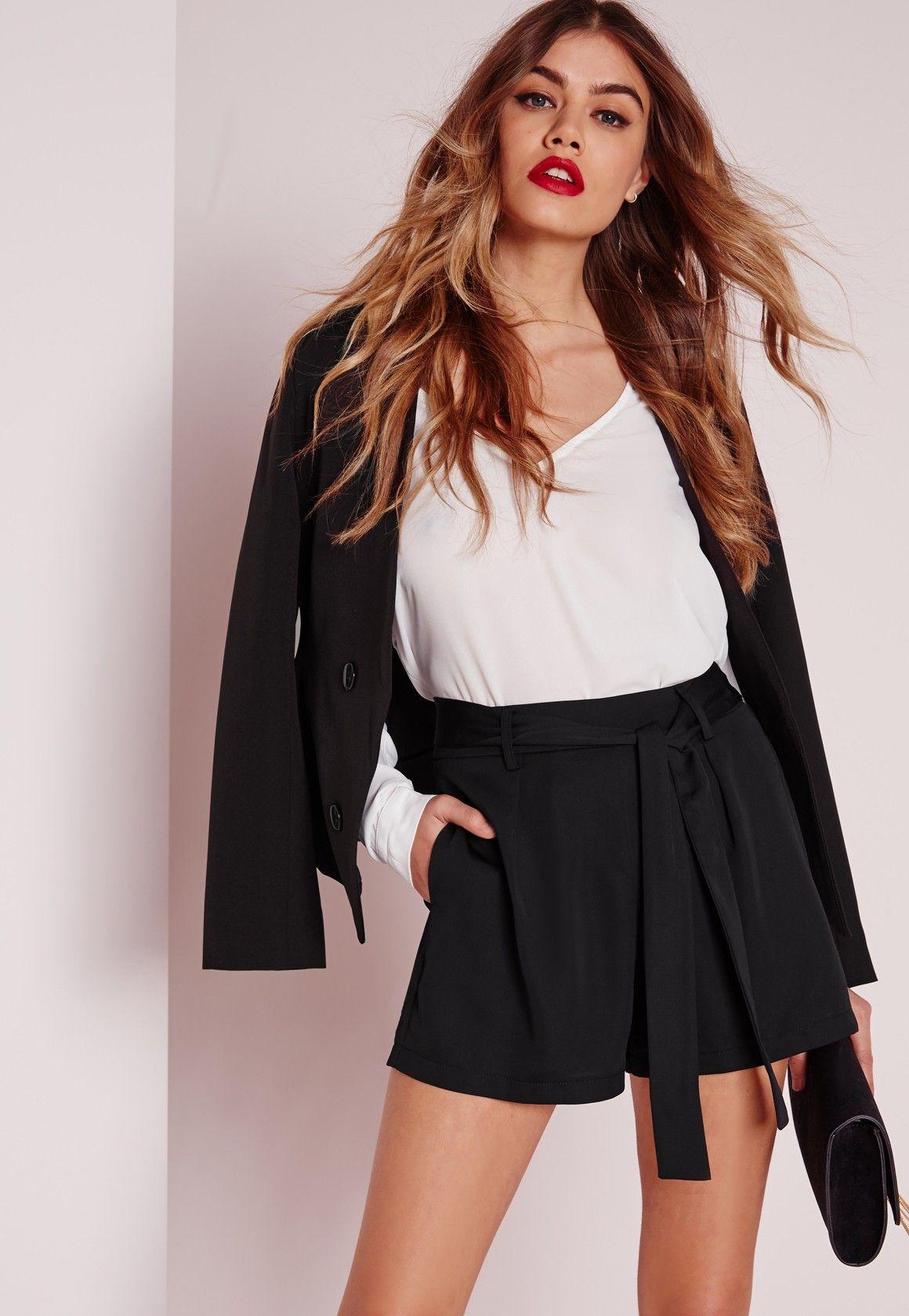 Black Tie Shorts