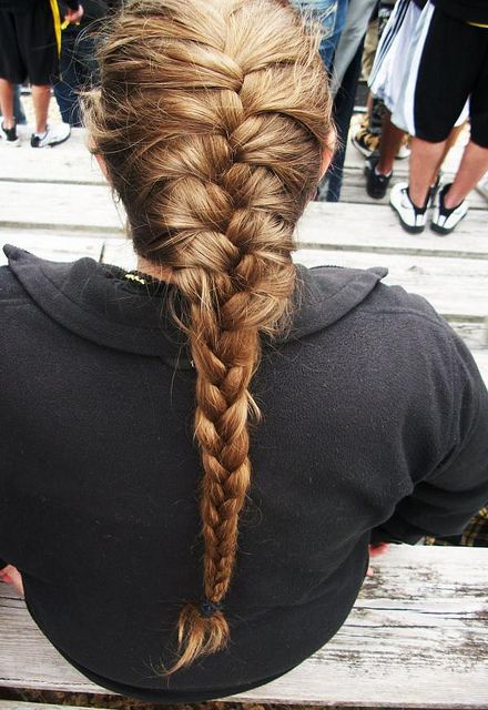 Blonde Hair in a French Braid