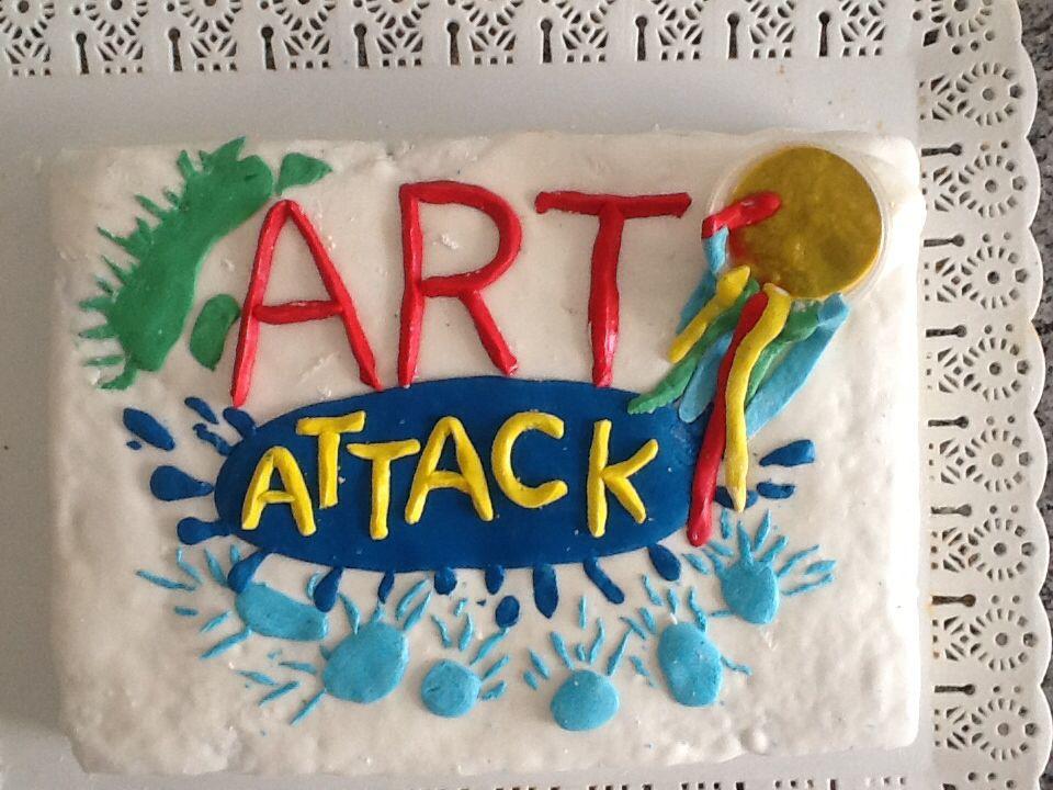 Torta cumpleos art attack Tortas cumpleaos comunion Pinterest