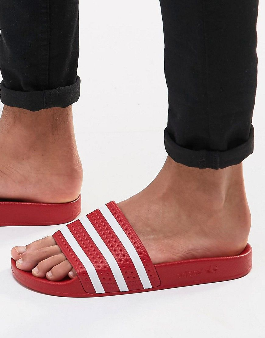 a2a411680 ADIDAS ORIGINALS ADILETTE SLIDERS 288193 - RED.  adidasoriginals  shoes