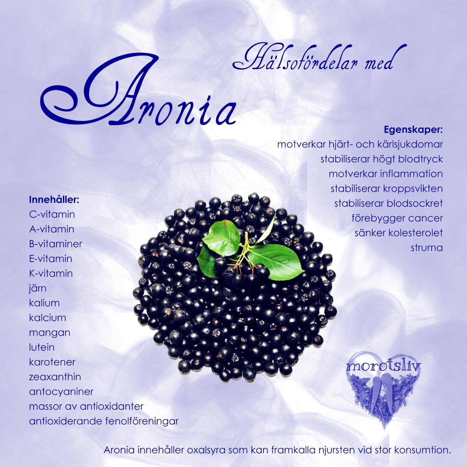 aronia vitaminer