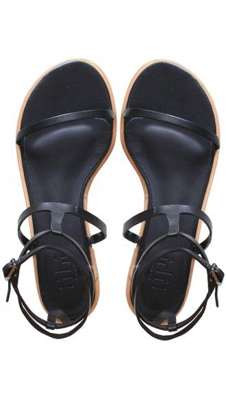 The perfect strappy black sandal for spring