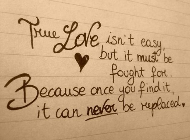 how to realize true love