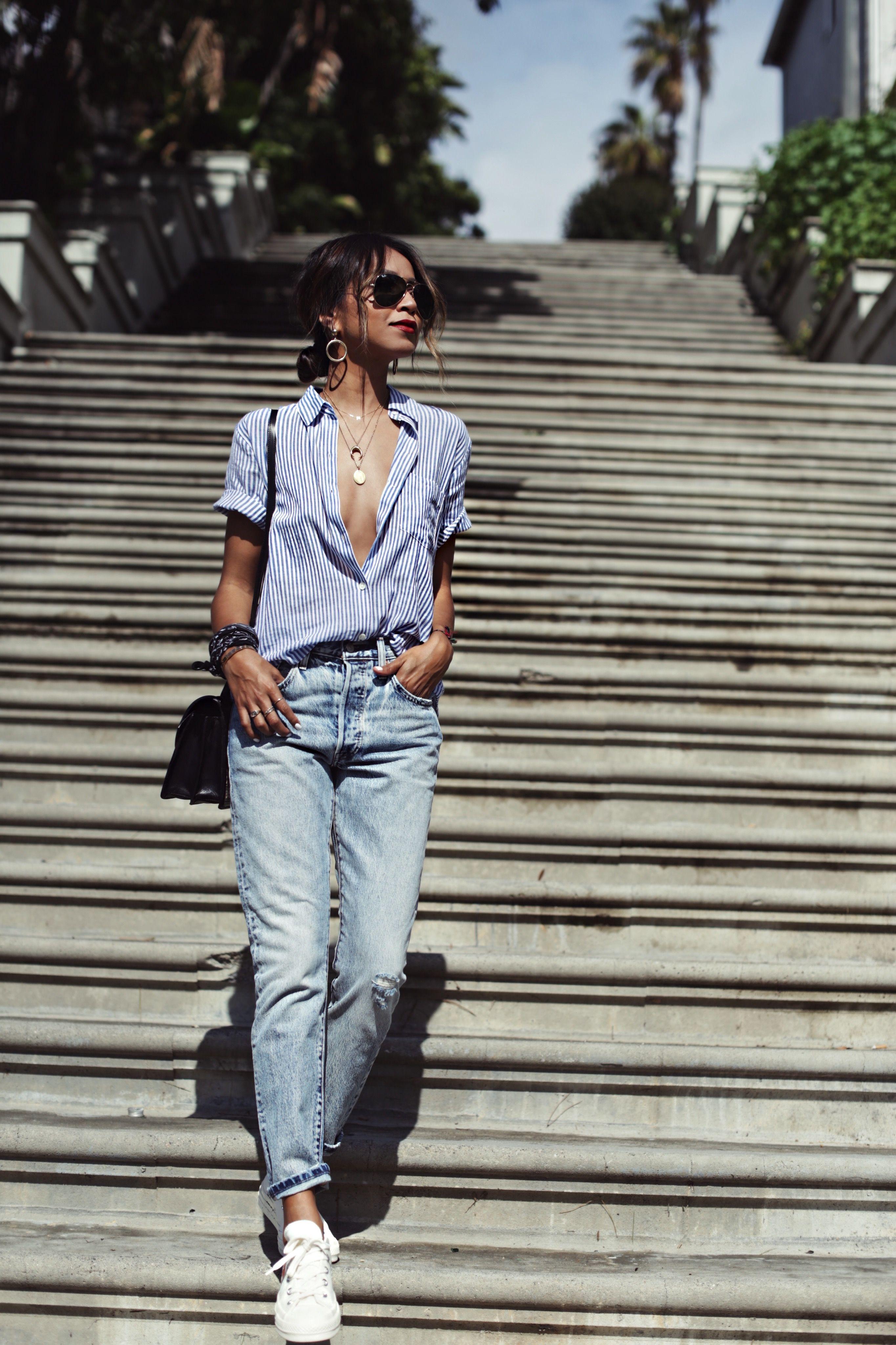 SINCERELY JULES HIGH Waist Jeans blau Casual Look Damen Gr
